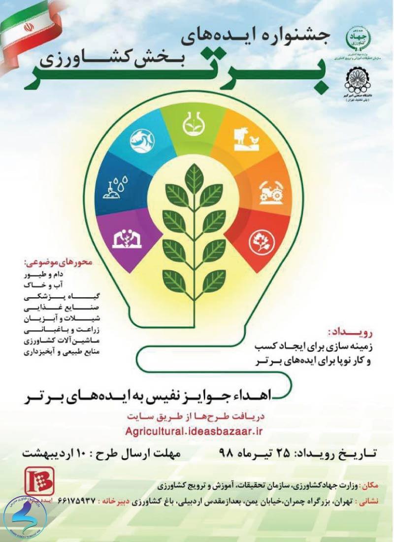 جشنواره ایدههای برتر بخش کشاورزی