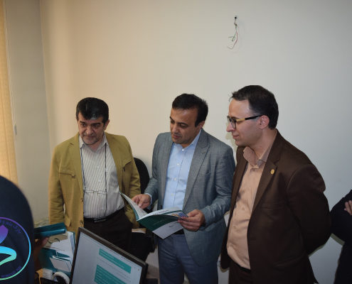 بازدید مسئولین دانشگاه تربیت مدرس از پارک علم و فناوری دانشگاه تربیت مدرس