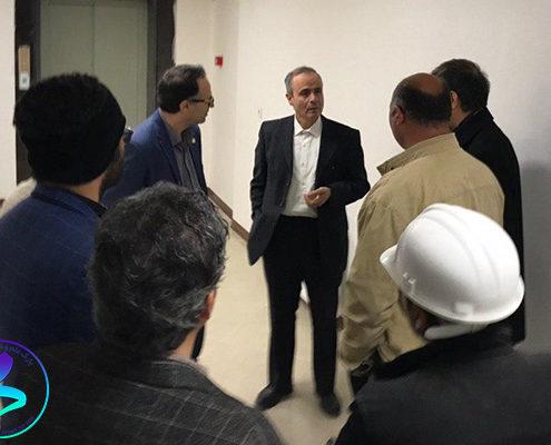 بازدید رئیس دانشگاه از ساختمان پردیس پژوهش پارک علم و فناوری دانشگاه تربیت مدرس