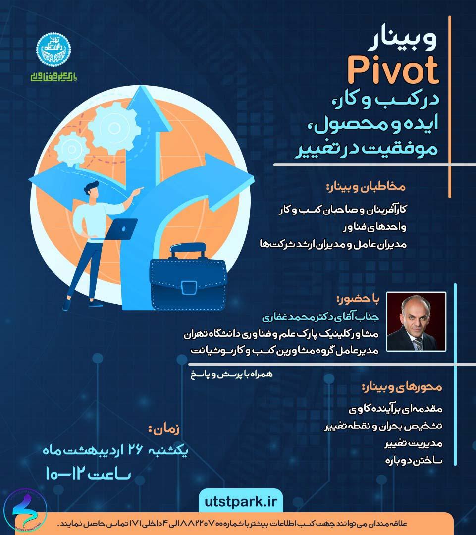برگزاری وبينار Pivot در کسبوکار