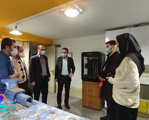 مراسم افتتاح کارگاه اشتراکی ساخت ساختمان گردآفرید